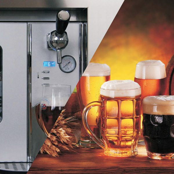 Built-in beer dispenser